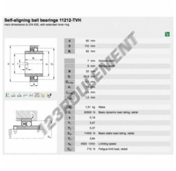 11212-TVH-FAG - 60x110x62 mm