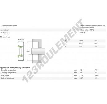 11299-SKF - 28.57x50.46x6.35 mm