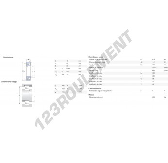 11308-FAG - 40x90x23 mm