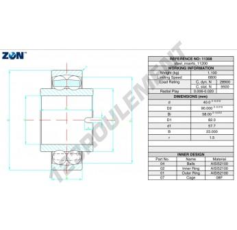 11308-ZEN - 40x90x23 mm