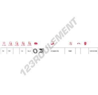 COMBI-SF6-70X95X15-16.50-NBR-CORTECO