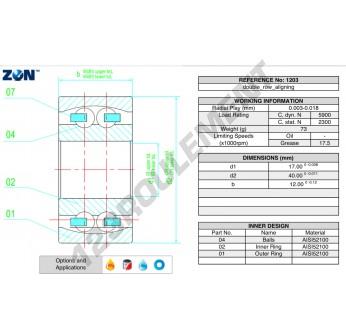 1203-ZEN - 17x40x12 mm