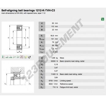 1212-K-TVH-C3-FAG - 60x110x22 mm