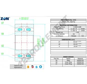 1213-ZEN - 65x120x23 mm