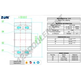 1215-ZEN - 75x130x25 mm
