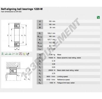 1220-M-FAG - 100x180x34 mm
