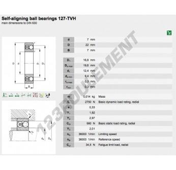 127-TVH-FAG - 7x22x7 mm