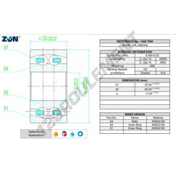 1305-TNH-ZEN - 25x62x17 mm