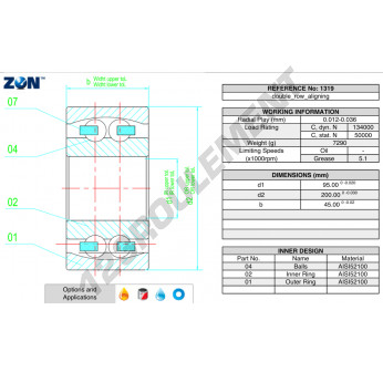 1319-ZEN - 95x200x45 mm