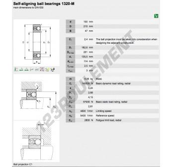 1320-M-FAG - 100x215x47 mm