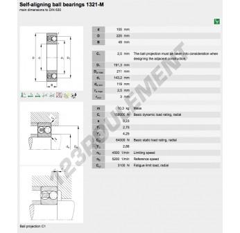 1321-M-FAG - 105x225x49 mm