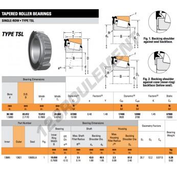 13685-13621-13600LA-TIMKEN - 38.1x69.01x20.96 mm