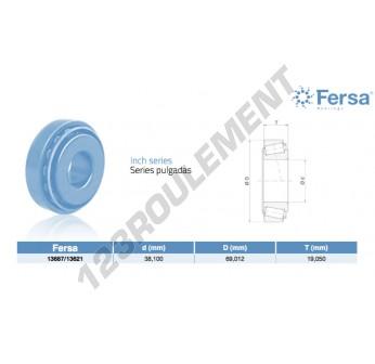 13687-13621-ASFERSA - 38.1x69.01x19.05 mm