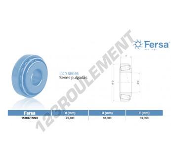 15101-15245-ASFERSA - 25.4x62x19.05 mm