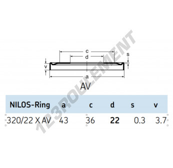 320-22-XAV-NILOS - 22x43x3.7 mm