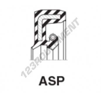 ASP-25.40X41.27X7.94-NBR