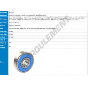B17-99D-PFI - 17x52x17 mm