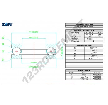 B4-ZEN - 3x8x4 mm