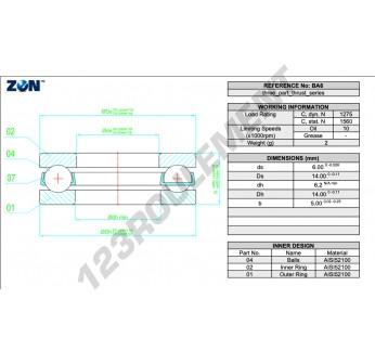 B6-ZEN - 6x14x5 mm
