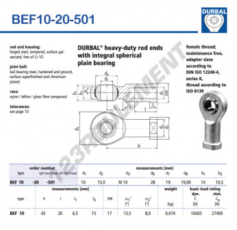 BEF10-20-501-DURBAL