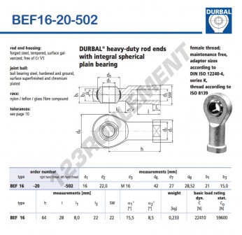 BEF16-20-502-DURBAL