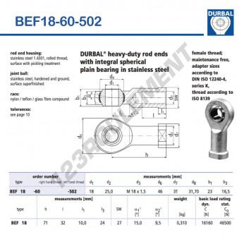 BEF18-60-502-DURBAL