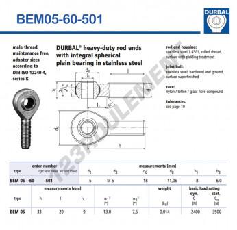 BEM05-60-501-DURBAL