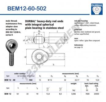 BEM12-60-502-DURBAL