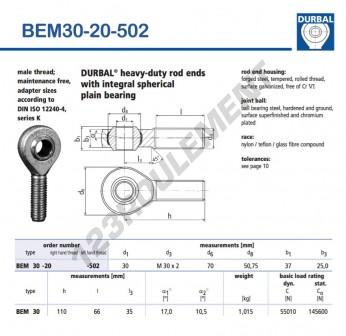 BEM30-20-502-DURBAL