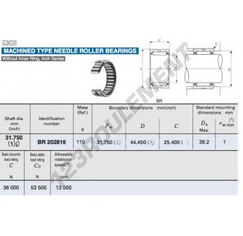 BR202816-IKO - 31.75x44.45x25.4 mm