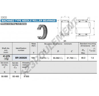 BR263520-IKO - 41.28x55.56x31.75 mm