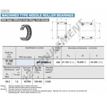 BR364828-U-IKO - 57.15x76.2x44.45 mm