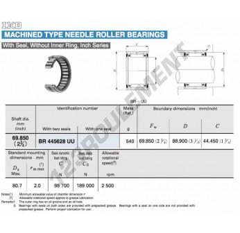 BR445628-UU-IKO - 69.85x88.9x44.45 mm