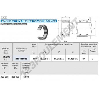 BR486028-IKO - 76.2x95.25x44.45 mm