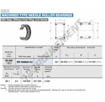 BR526828-UU-IKO - 82.55x107.95x44.45 mm
