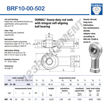 BRF10-00-502-DURBAL