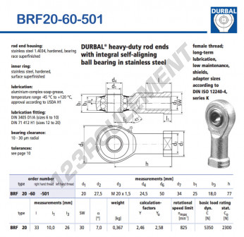 BRF20-60-501-DURBAL