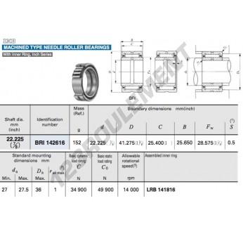 BRI142616-IKO - 22.23x41.28x25.65 mm