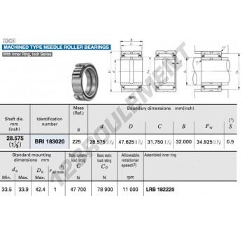 BRI183020-IKO - 28.58x47.69x32 mm