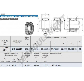 BRI203320-IKO - 31.75x52.39x32 mm