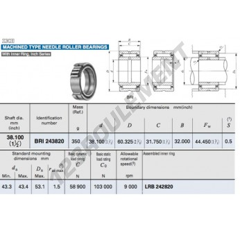 BRI243820-IKO - 38.1x60.33x32 mm