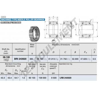 BRI243920-IKO - 38.1x61.91x32 mm