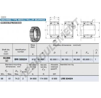 BRI325224-IKO - 50.8x82.55x38.35 mm