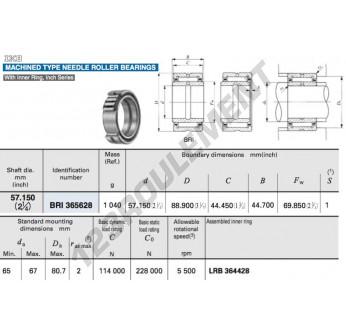 BRI365628-IKO - 57.15x88.9x44.7 mm