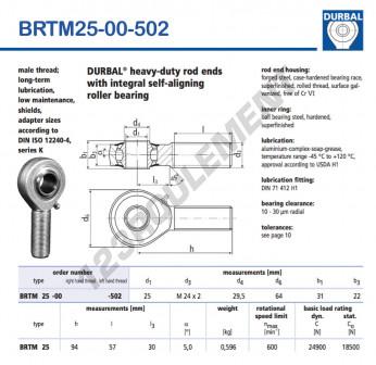 BRTM25-00-502-DURBAL