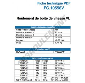 FC10558V-SNR - 25x67x29.3 mm