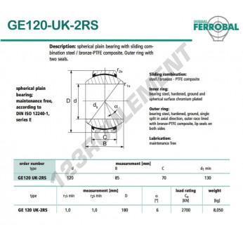 DGE120-UK-2RS-DURBAL