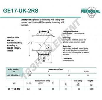 DGE17-UK-2RS-DURBAL