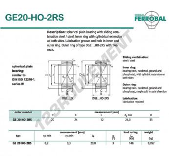 DGE20-HO-2RS-DURBAL