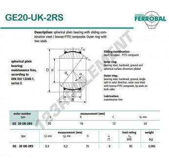GE20-UK-2RS-DURBAL